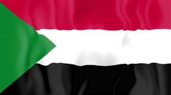 Animated flag of Sudan Stock Footage