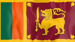 Animated flag of Sri Lanka Stock Footage