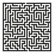 Stock Illustration of Vector Maze. Labyrinth with Entry and Exit.