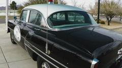 Antique Police Car On Display In Kingman Arizona - stock footage