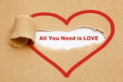 All You Need is Love Torn Paper Kuvituskuvat