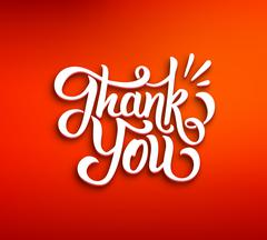 Stock Illustration of Thank You 3D inscription on red background
