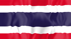 Animated flag of Thailand Stock Footage