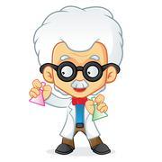 Professor doing experiment Stock Illustration