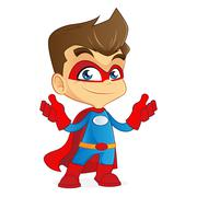 Superhero feeling confident and strong Stock Illustration