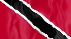 Animated flag of Trinidad and Tobago Stock Footage