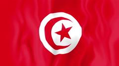 Animated flag of Tunisia - stock footage