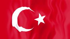 Animated flag of Turkey Stock Footage