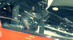 The appearance of various parts of a sports car Mercedes-Benz AMG GTS Stock Footage