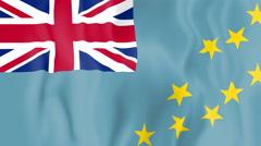 Animated flag of Tuvalu Stock Footage