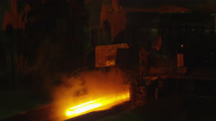 Heavy Industry Machines Processing Melted Burning Hot Metal Bar. Stock Footage