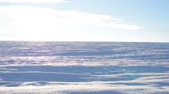 Snow panorama in the winter Stock Footage