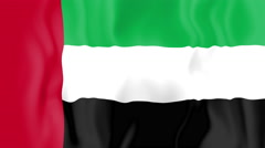 Animated flag of the United Arab Emirates Stock Footage