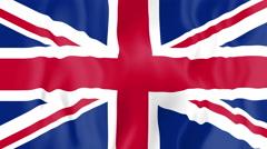 Animated flag of the United Kingdom Stock Footage