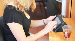 Tablet Computer In Young Girls Stock Footage