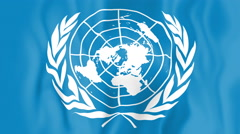 Animated flag of the United Nations Stock Footage