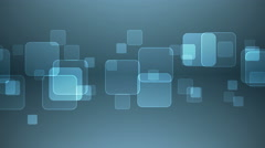 Abstract Overlapping Rectangular Shapes on Gray Blue Background. - stock footage