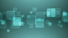 Overlapping Squares on Gray Cyan Background. - stock footage