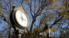 Ellicott City Main Street Clock Stock Footage