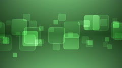 Overlapping Squares on Green Background. - stock footage