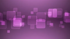 Overlapping Squares on Magenta Background. - stock footage