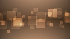 Overlapping Squares on Gray Orange Background. - stock footage