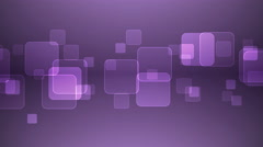 Overlapping Squares on Purple Background. - stock footage