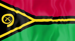 Animated flag of Vanuatu Stock Footage