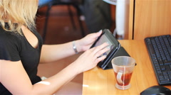 The Girl With The Tablet 2 Stock Footage