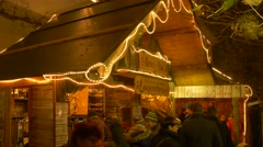 Christmas Market in Lindau on Lake Constance Stock Footage
