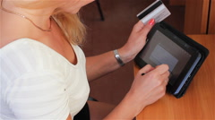 Sending Money With Credit Card Stock Footage