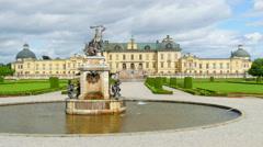 Drottningholm palace, stockholm, sweden, straight view, 4k Stock Footage
