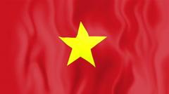 Animated flag of Vietnam Stock Footage