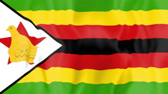 Animated flag of Zimbabwe Stock Footage