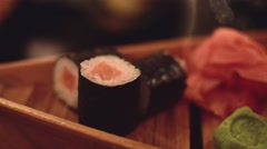 Sushi restaurant Stock Footage