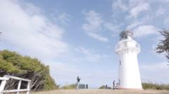 Light HouseEast Cape North Island New Zealand.  Stock Footage