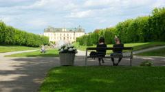 STOCKHOLM - SWEDEN, AUGUST 2015: drottningholm palace, timelapse Stock Footage