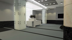 3d Architecture lobby pan view - stock footage