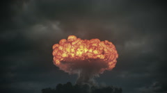 Doomsday nuclear explosion in 2K Stock Footage
