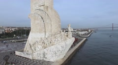 Monument to the Discoveries, Lisbon, Portugal Stock Footage