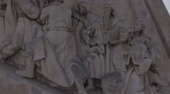 Monument to the Discoveries, Lisbon, Portugal - stock footage