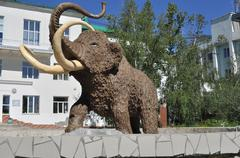 Monument mammoth. - stock photo