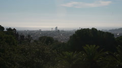 Spanish City from afar Stock Footage