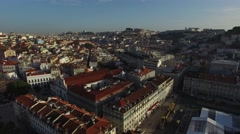 Aerial View of Lisbon, Portugal Stock Footage