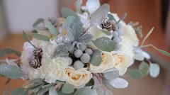 Original Wedding Bouquet - stock footage