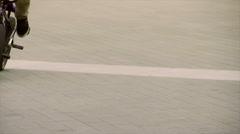 Acrobatic Bikers in the Street Stock Footage