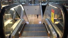 Escalator, top view Stock Footage