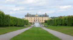Drottningholm palace, stockholm, sweden, timelapse, 4k Stock Footage
