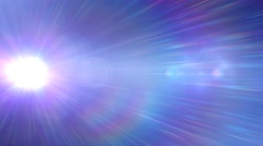 Lens flare blinders white out transition - stock footage