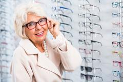 Lady with eye defect Stock Photos